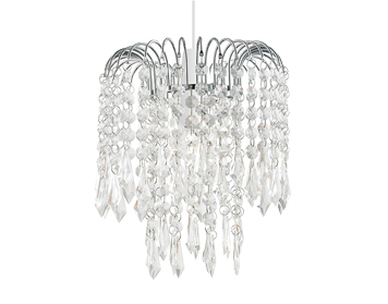 Endon Levens Non-Electric Pendant, Chrome Plate Finish With Clear Acrylic Beads - NE-LEVENS-CH