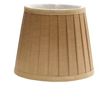 Elstead Pleated Candle Clip Shade (158mm), Coffee Finish - LS160