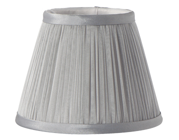 Elstead Pleated Candle Clip Shade (156mm), Chiffon Finish - LS200