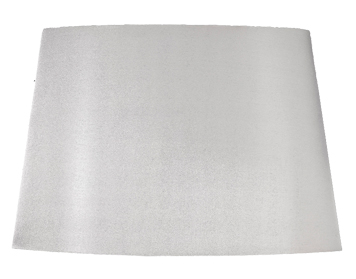 Elstead Lui Tapered Oval Shade (530mm), Silver Finish With Silver Lining - LUI/LS1112