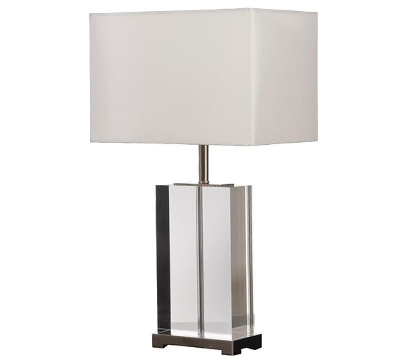 Elstead valentina glass table lamp clear crystal finish base only lui valentina