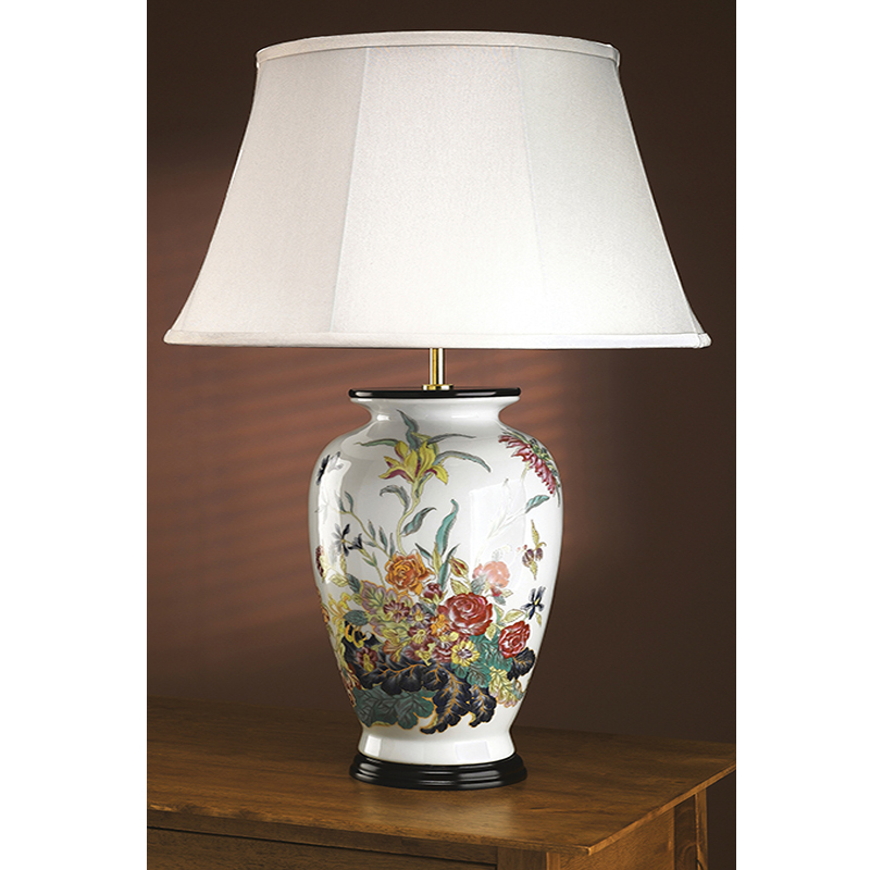 Elstead rose floral table lamp lui floralrose