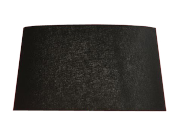 Interiors 1900 New Classic Tapered Oval Shade, Black Fabric - LX123SHB