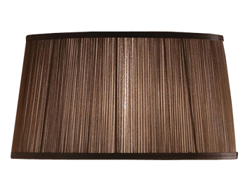 Interiors 1900 New Classic Tapered Oval Shade, Chocolate Organza Fabric - LX123SHC
