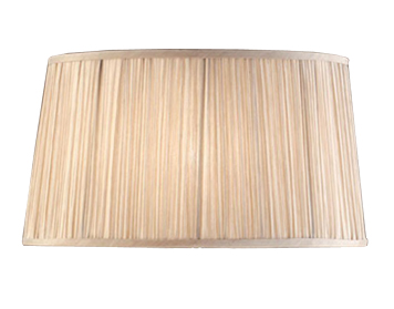 Interiors 1900 New Classic Tapered Oval Shade, Beige Faux Silk - LX123SHW