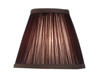 Interiors 1900 New Classic Tapered Cylinder Shade, Chocolate Organza Fabric - LX124SHC
