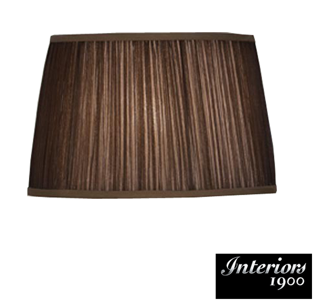 Interiors 1900 tapered cylinder small table lamp shade chocolate interiors 1900 tapered cylinder small table lamp shade chocolate organza fabric lx124shsc mozeypictures Images