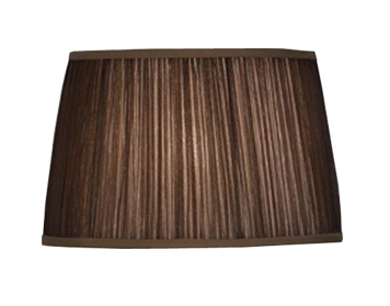 Interiors 1900 Tapered Cylinder Small Table Lamp Shade, Chocolate Organza Fabric - LX124SHSC