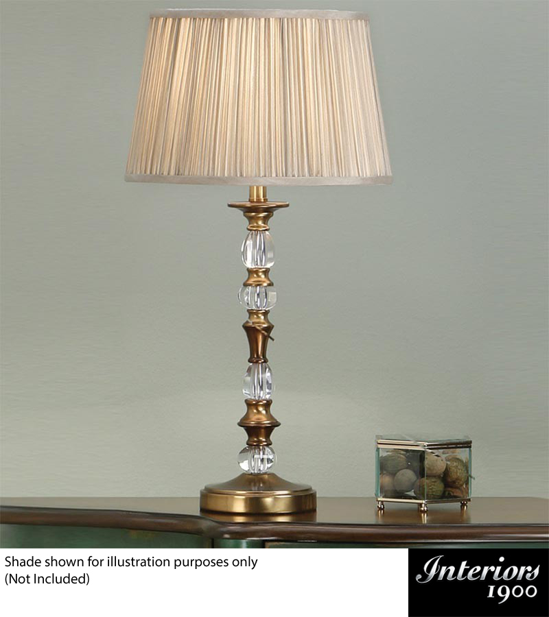 Interiors 1900 Polina Base Only 1 Light Small Table Lamp