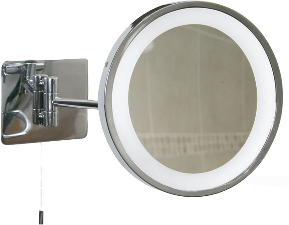 Oaks lighting swing arm illuminated bathroom mirror ip44 Polished chrome bathroom mirrors