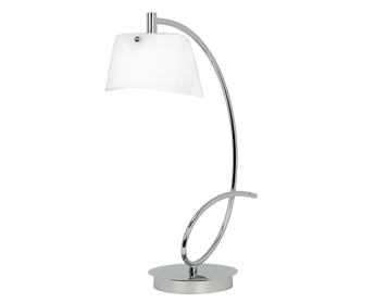 Modern table lamps from easy lighting endon massey chrome table lamp with white glass shades massey 1tlch aloadofball Gallery