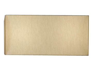 Interiors 1900 Straight Sided Rectangle Shade, Beige Faux Silk - MC1FSH
