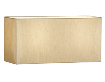 Interiors 1900 Straight Sided Rectangle Shade, Beige Faux Silk - MC1TSH