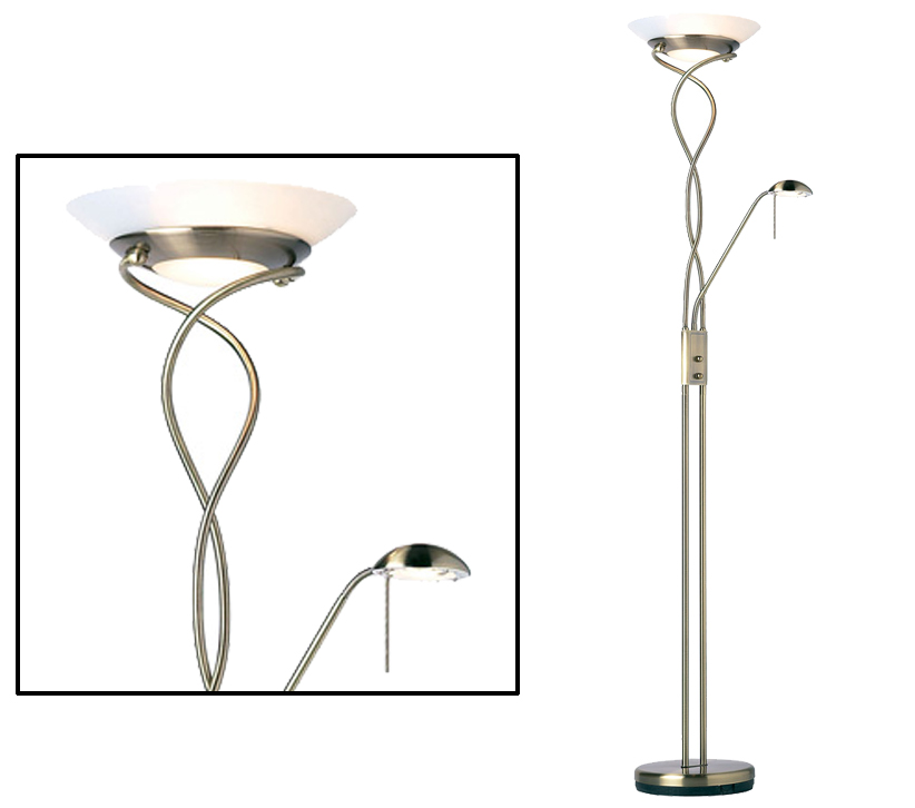 Endon monaco mother child floor lamp with rotary dimmer antique endon monaco mother child floor lamp with rotary dimmer antique brass finish with opal glass monaco an aloadofball Images