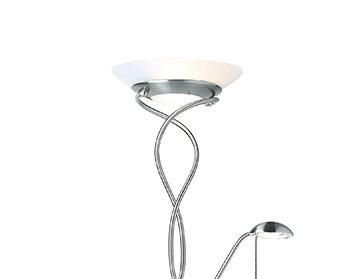 Endon monaco mother child twisted floor lamp with double endon monaco mother child twisted floor lamp with double dimmer satin chrome aloadofball Choice Image