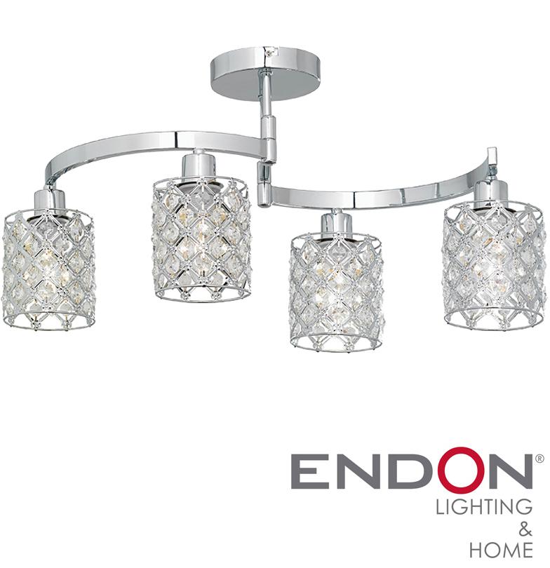 endon  u0026 39 morita u0026 39  4 light ceiling light with wire shades