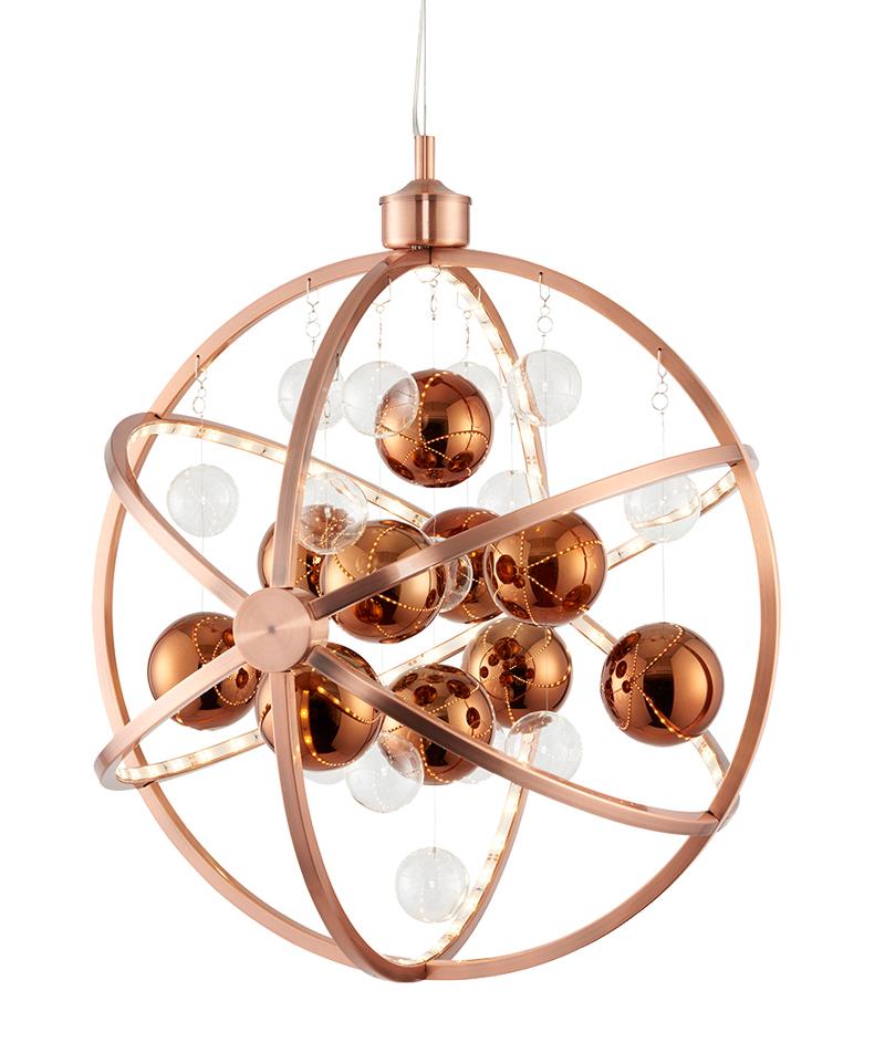 Endon muni 8 light led ceiling pendant copper plate with clear endon muni 8 light led ceiling pendant copper plate with clear copper aloadofball Images