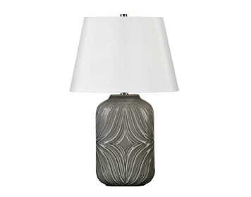 Elstead Muse 1 Light Table Lamp , Grey Finish With Off White Shade - MUSE/TL GREY