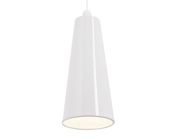 Endon Preston Non-Electric Pendant, Gloss White Ceramic Finish - NE-PRESTON-WH