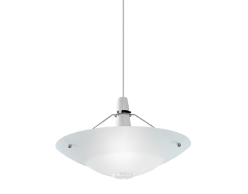 Endon Pisa Non-Electric Glass Pendant, Chrome Plate Finish With Clear & Frosted Glass - NE-81