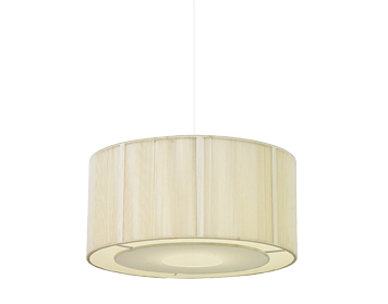 Endon Darlington Non-Electric Pendant, Cream String Finish With Cream Cotton Mix - NE-92-CR