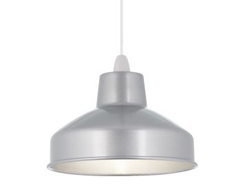 Endon Aston Non-Electric Pendant, Aluminium Finish - NE-ASTON-AL