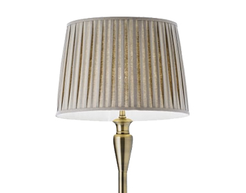 Endon Oslo Floor Lamp, Antique Brass Finish, Base Only - OSLO-FL-AN
