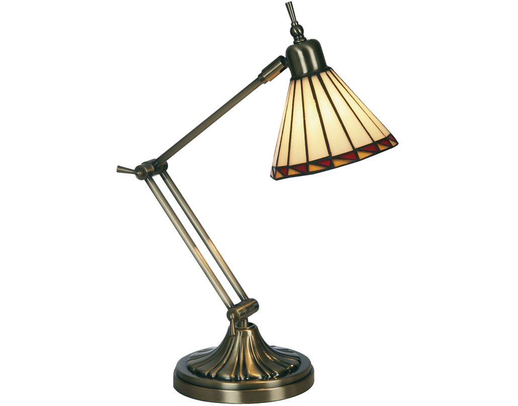 Oaks Lighting Washington Tiffany Table Lamp - OT 018