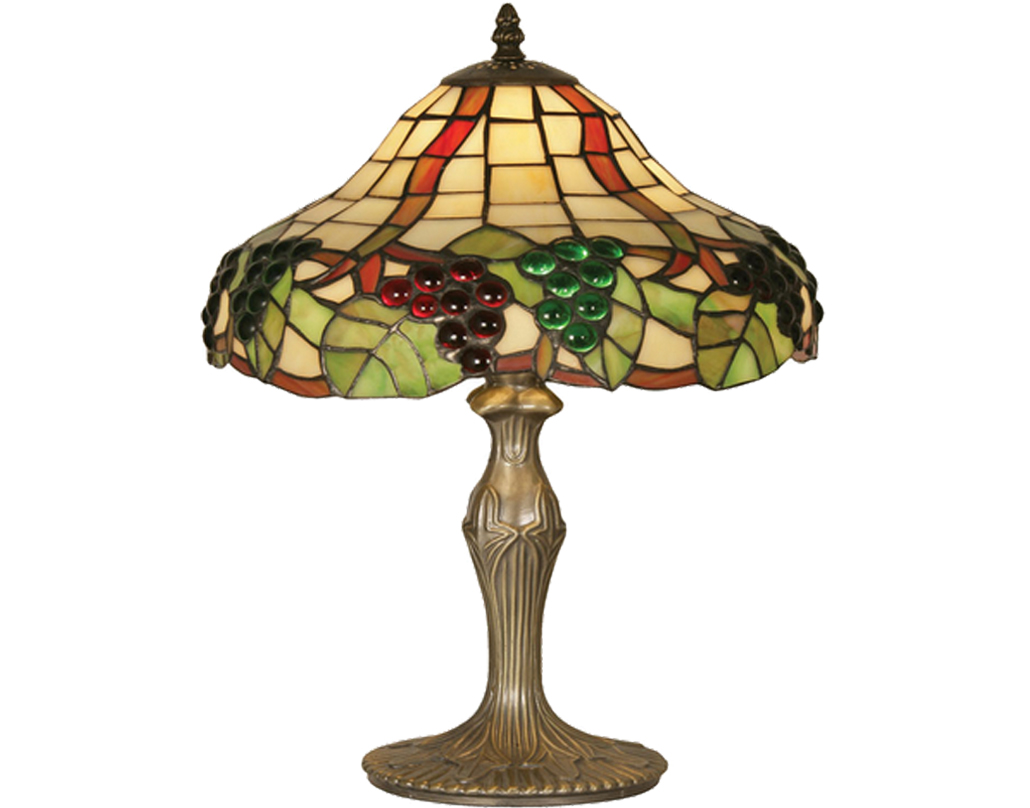 Oaks Lighting Grapes II Tiffany Table Lamp - OT 0209/12 TL