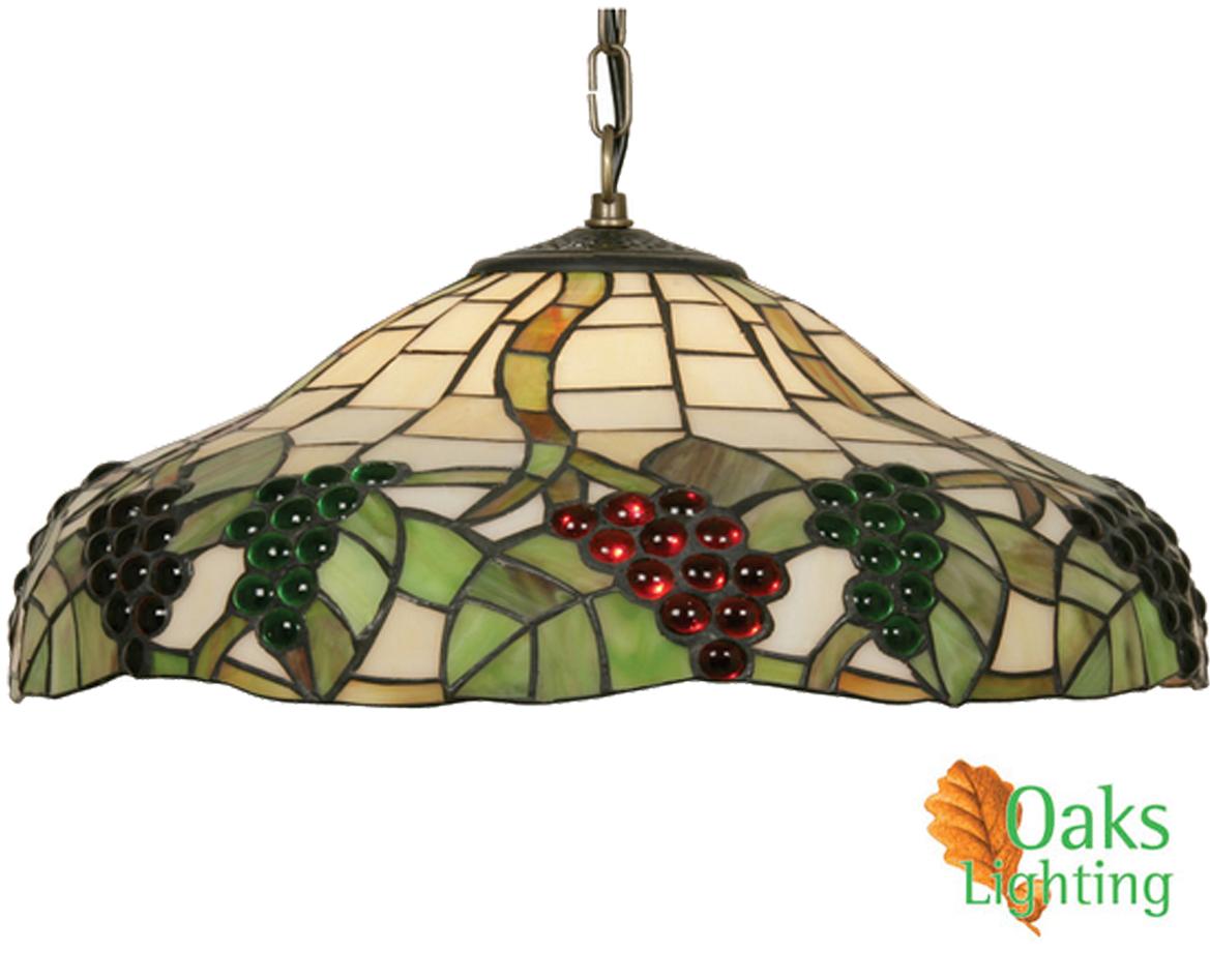 Oaks Lighting Grapes Ii Tiffany Ceiling Light Ot 0209