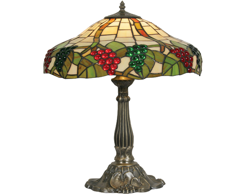 Oaks Lighting Grapes II Tiffany Table Lamp - OT 0209/16 TL