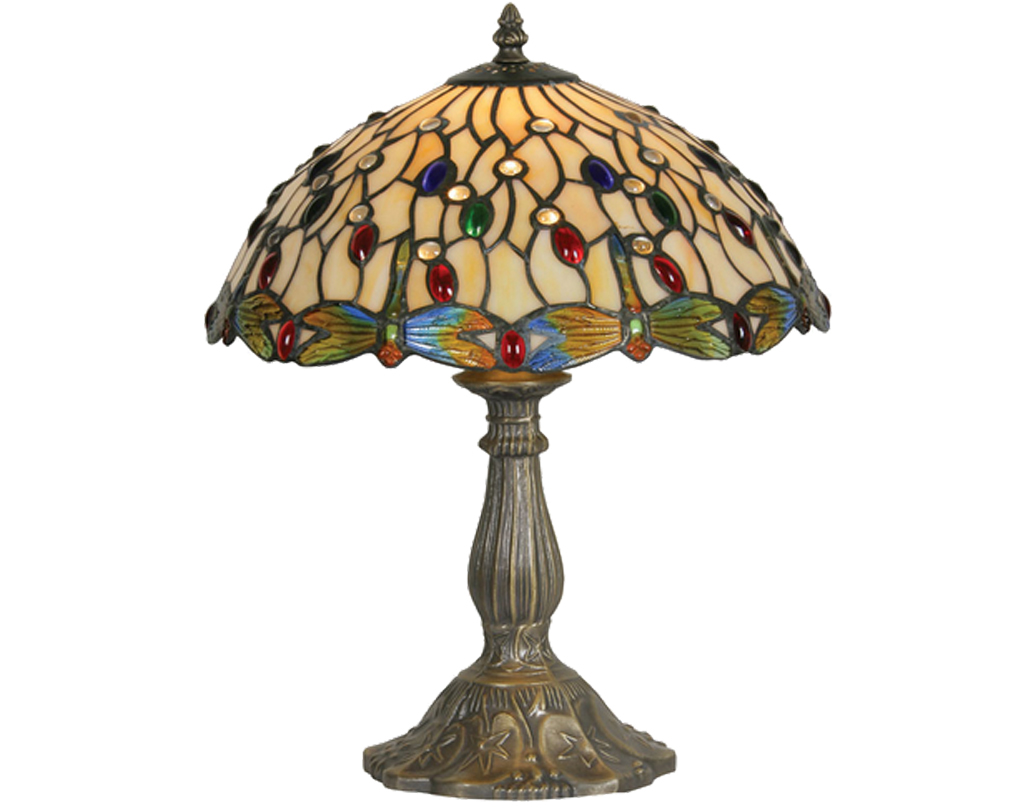 Oaks Lighting Dragonfly II Tiffany Table Lamp - OT 1227/12 TL