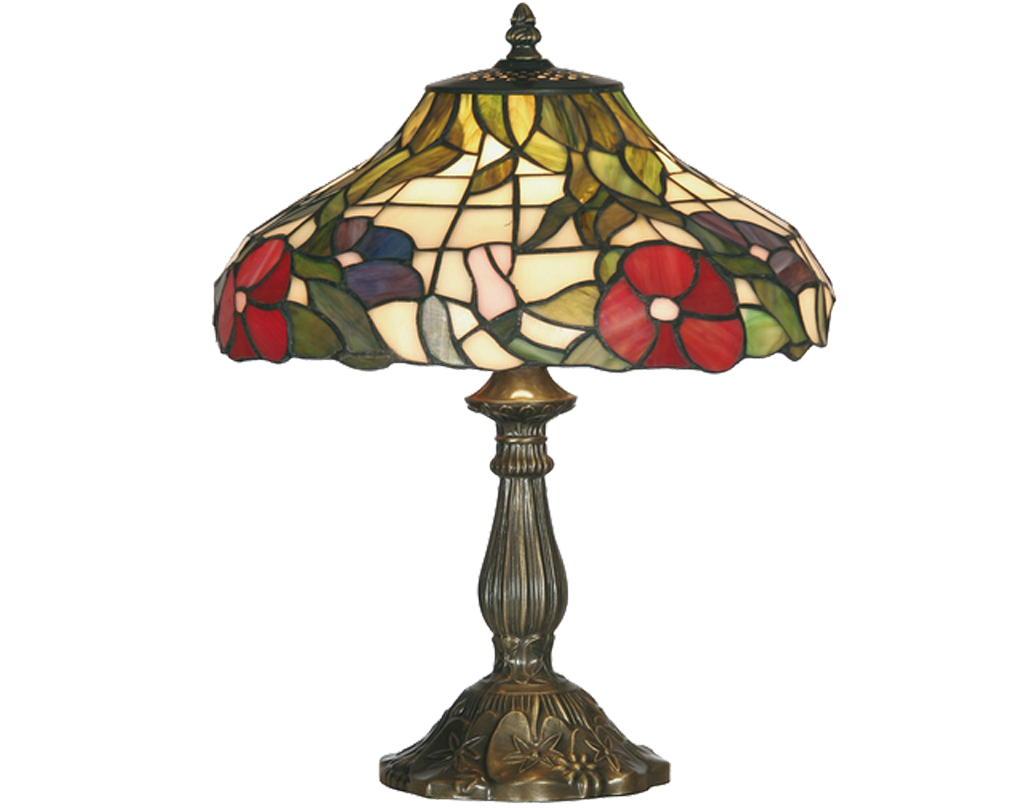 Oaks Lighting Peonies Tiffany Table Lamp - OT 1345/12 TL