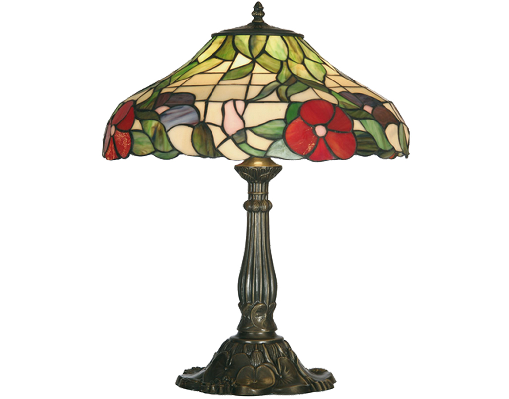 Oaks Lighting Peonies Tiffany Table Lamp - OT 1345/16 TL