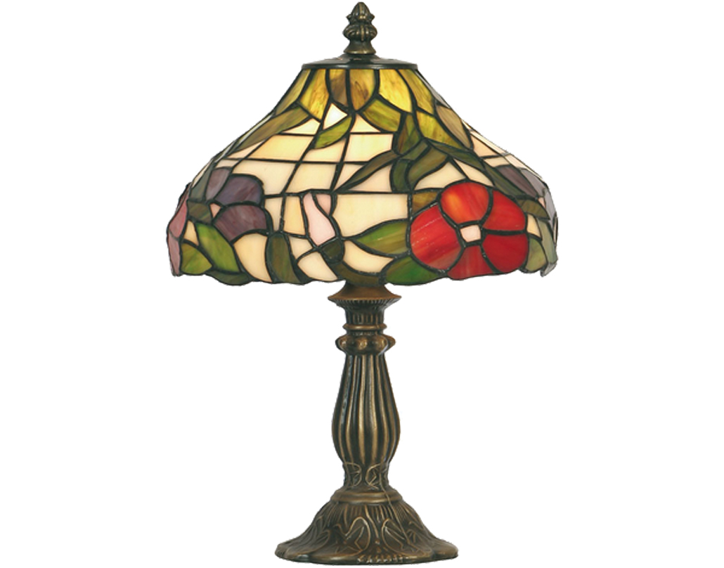 Oaks Lighting Peonies Tiffany Table Lamp - OT 1345/8 TL