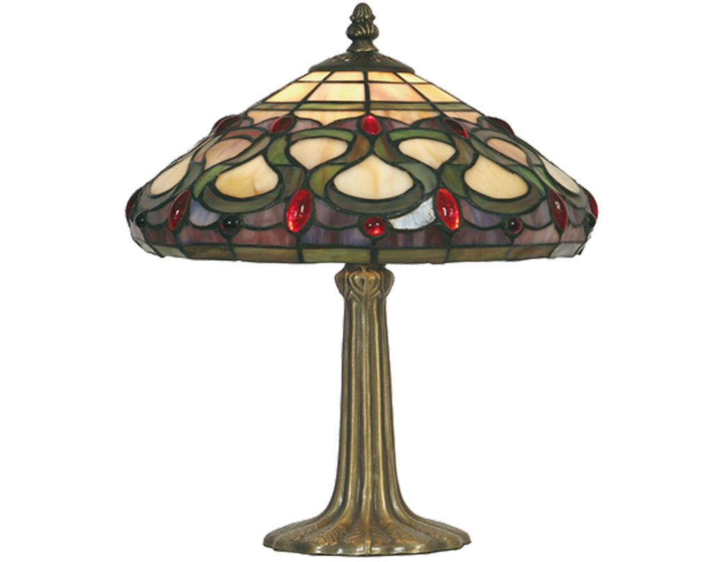 Oaks Lighting Oberon Tiffany Table Lamp - OT 1420/10 TL