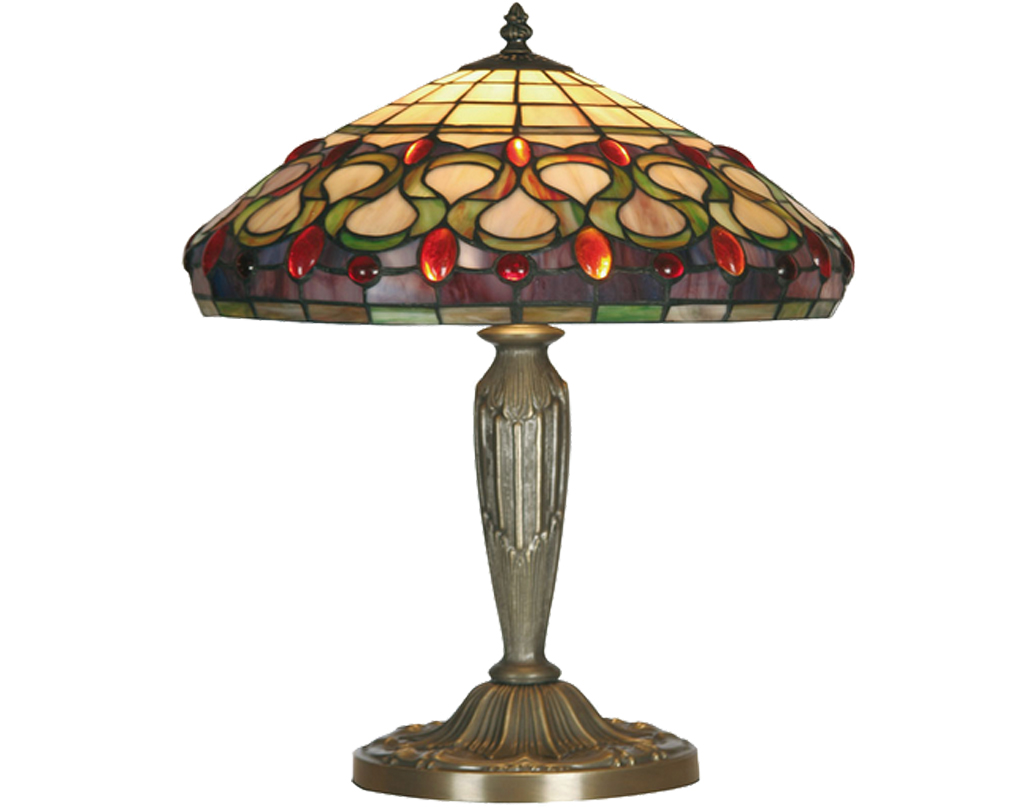Oaks Lighting Oberon Tiffany Table Lamp - OT 1420/14 TL