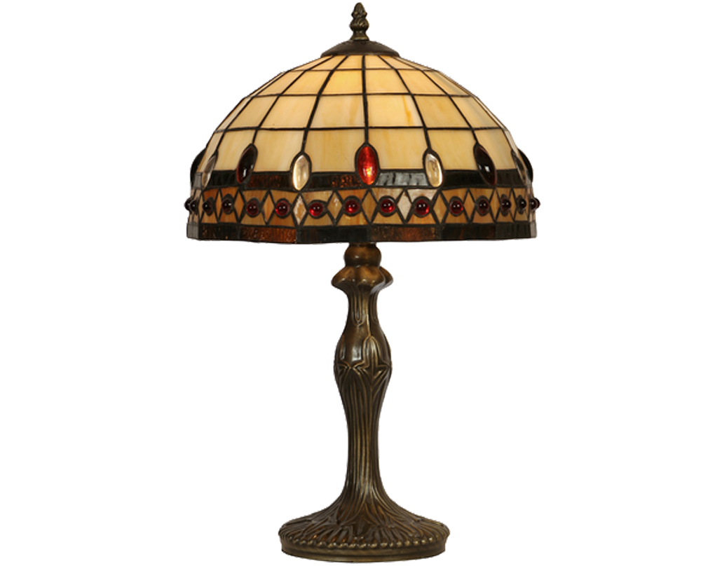 Oaks Lighting Flute Tiffany Table Lamp - OT 1460/12 TL