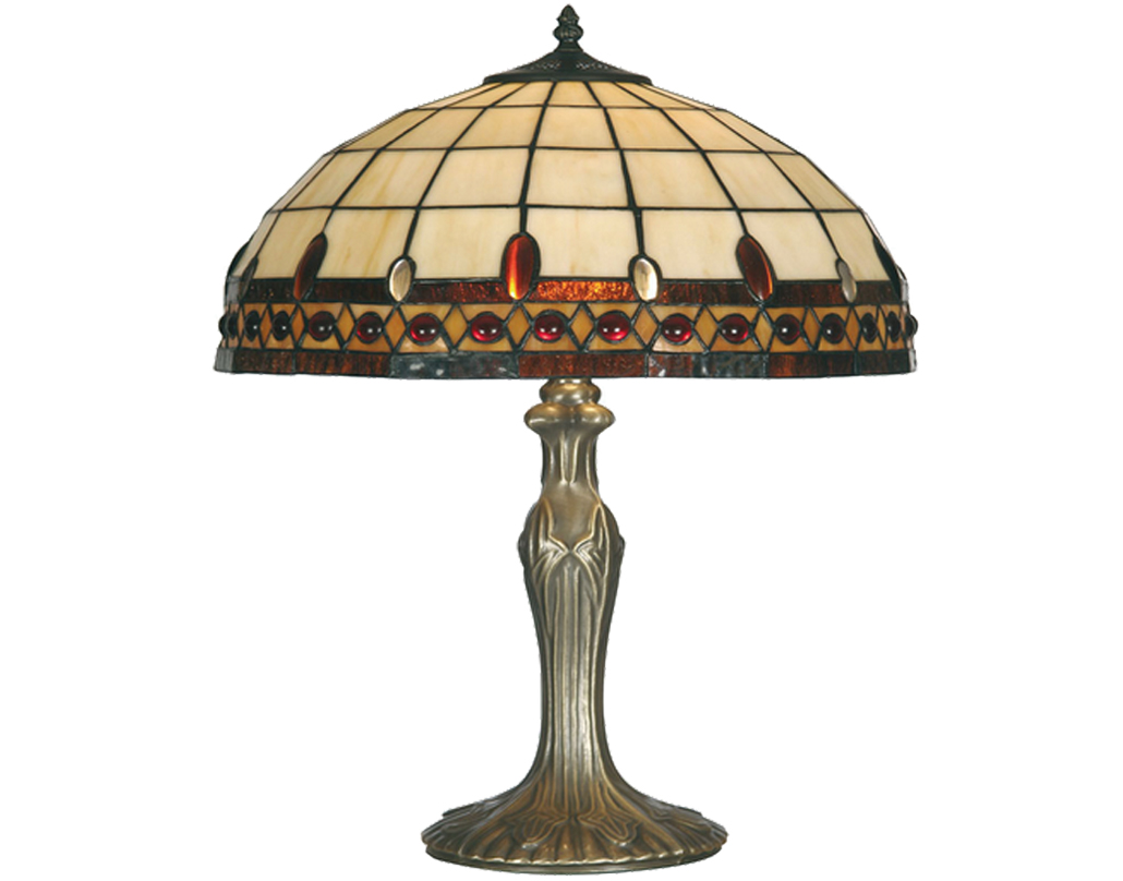 Oaks Lighting Flute Tiffany Table Lamp - OT 1460/16 TL