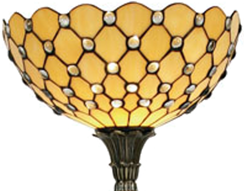 Oaks Lighting 'Jewel' Tiffany Floor Lamp - OT 1562 FS