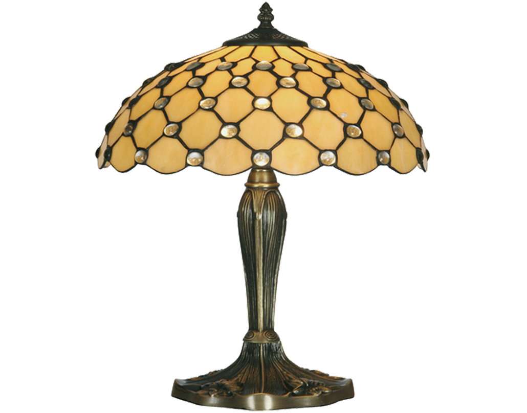 Oaks Lighting Jewel Tiffany Table Lamp - OT 1562/14 TL