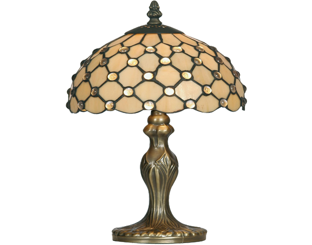 Oaks Lighting Jewel Tiffany Table Lamp - OT 1562/8 TL