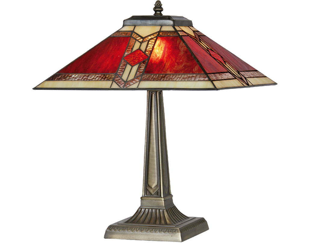 Oaks Lighting Aztec Tiffany Table Lamp - OT 2408/14 TL