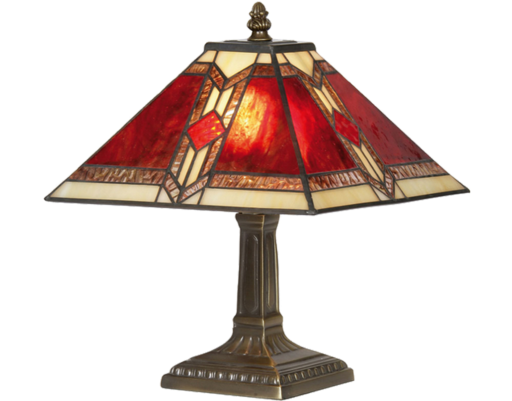 Oaks Lighting Aztec Tiffany Table Lamp - OT 2408/9 TL
