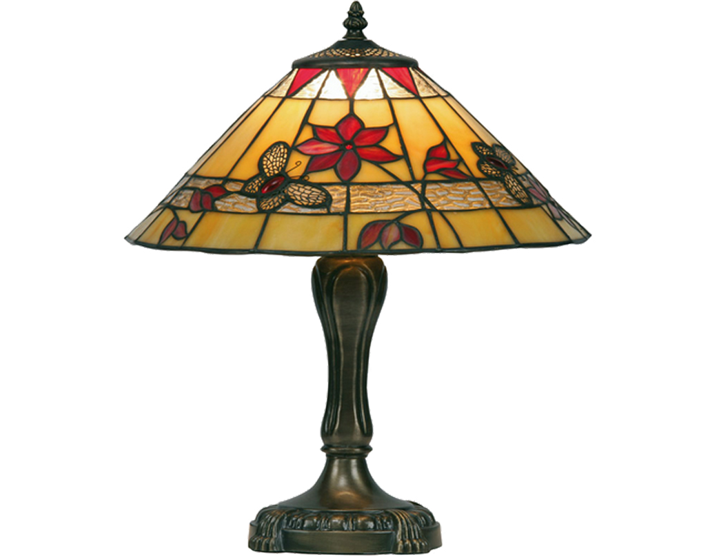 Oaks Lighting Butterfly Tiffany Table Lamp - OT 2612/13 TL
