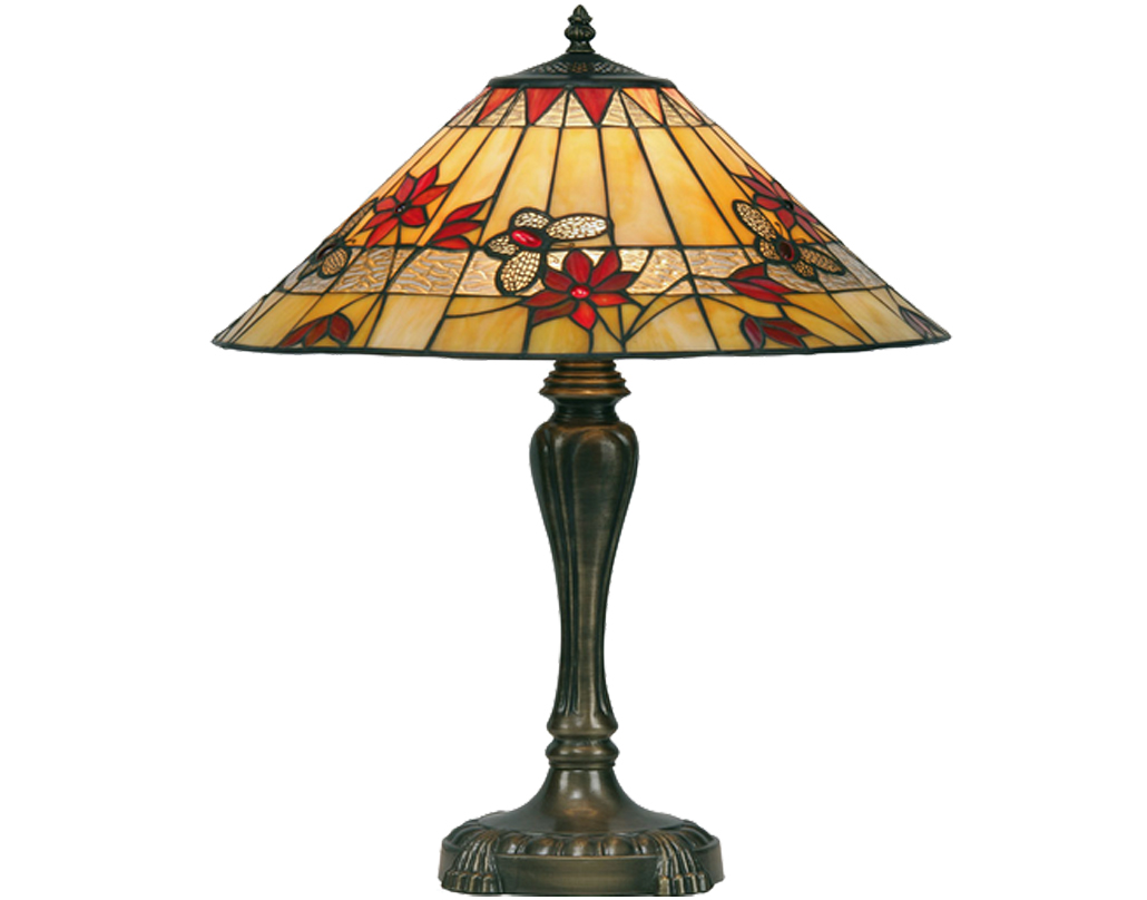 Oaks Lighting 'Butterfly' Tiffany Table Lamp - OT 2612/17 TL