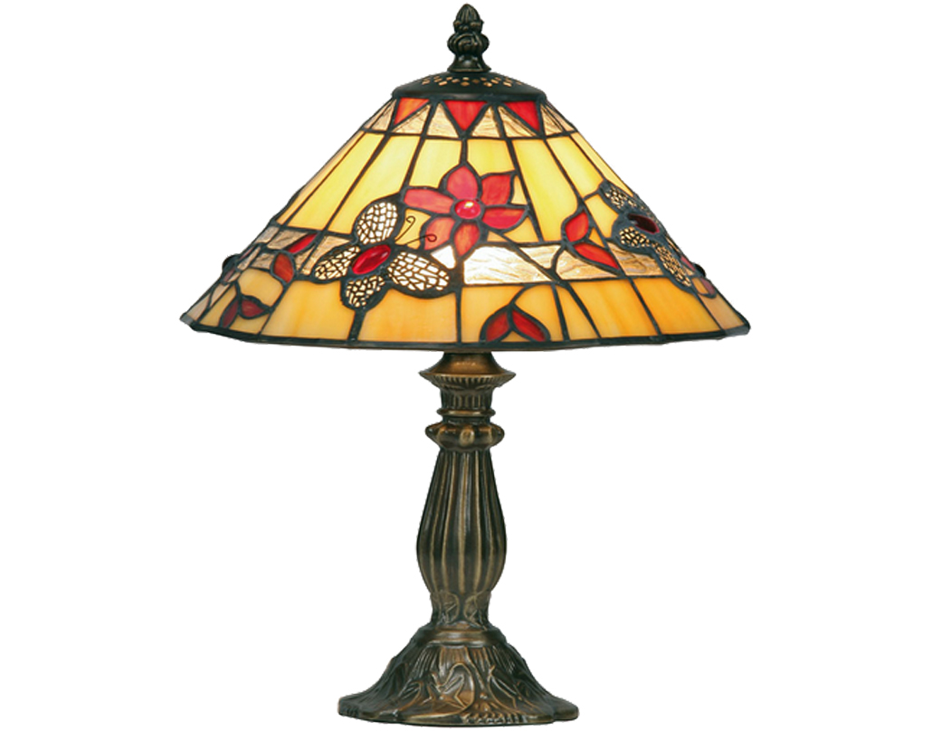 Oaks Lighting Butterfly Tiffany Table Lamp - OT 2612/9 TL