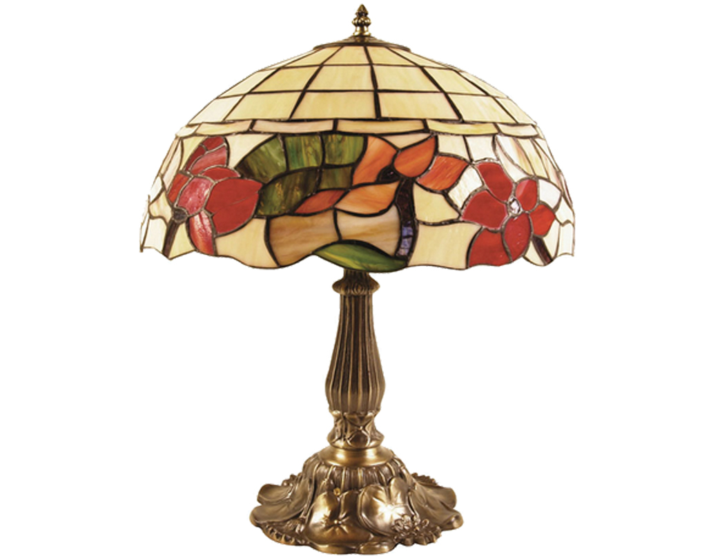 Oaks Lighting Border Tiffany Table Lamp - OT 4382/12 TL