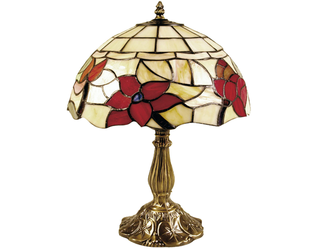 Oaks Lighting Border Tiffany Table Lamp - OT 4382/8 TL