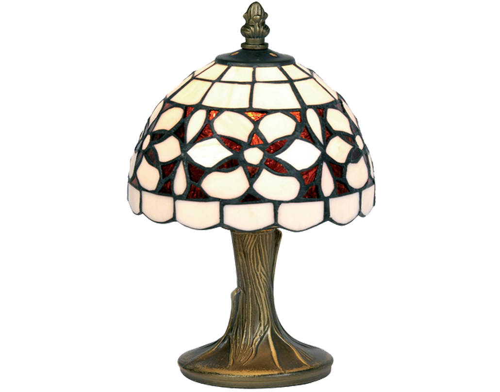 Oaks Lighting Amber Flower Tiffany Table Lamp - OT 50 AF